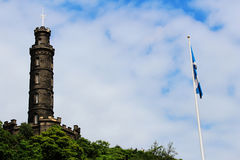 Edinburgh - Cartlon-Hügel, Nelsons Monument Lizenzfreies Stockfoto
