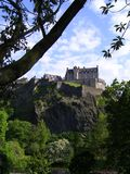 Edinburgh castle. On rock, Scotland, UK stock photography