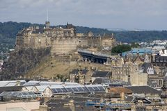 Edinburgh Castle. A view of Edinburgh Castle from Holyrood Park Royalty Free Stock Photography