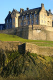 Edinburgh Castle. An ancient stronghold and national symbol, on top an extinct volcano, with dramatic views of Edinburgh, Scotland Stock Photo