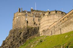 Edinburgh Castle. And battlements on a warm summer day Stock Photography