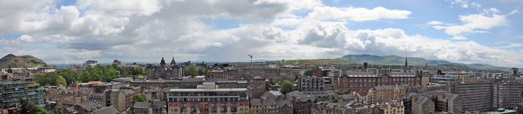 Edinburgh from the castle Royalty Free Stock Photos
