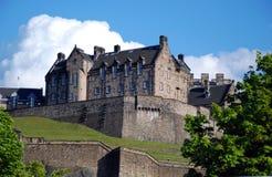 Edinburgh Castle. Scotland, as seen from Princes Street Stock Images