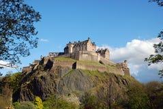 Edinburgh Castle. Scotland, as seen from Princes Street Royalty Free Stock Photo