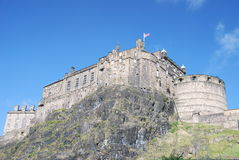 Edinburgh Castle. View of Castle Rock in Edinburgh, Scotland Royalty Free Stock Images