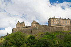 Edinburgh Castle. And battlements the landmark of the city Royalty Free Stock Photos