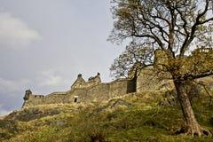 Edinburgh castle. Castle in the middle of Edinburgh city in Scotland Stock Photo