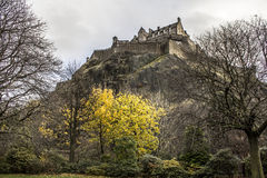Edinburgh castle. Castle in the middle of Edinburgh city Royalty Free Stock Photo