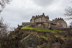 Edinburgh Castle. The Castle of Edinburgh in Scotland Royalty Free Stock Photography