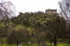 Edinburgh Castle. The Castle of Edinburgh in Scotland Royalty Free Stock Photo