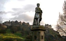 Edinburgh Castle. The Edinburgh Castle and statue Royalty Free Stock Photography
