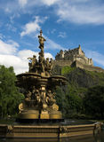 Edinburgh Castle. Fountain with Edinburgh Castle in the background stock image