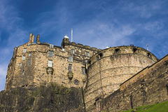 Edinburgh Castle. With blue sky background Stock Photo