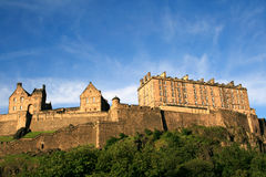 Edinburgh Castle. Old castle of Edinburgh Scotland Stock Photos