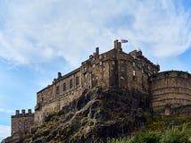 Edinburgh castle as seen from Grassmarket, Edinburgh, Scotland royalty free stock photo
