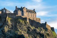 Edinburgh Castle as seen from Princes Street Gardens. Edinburgh Castle as seen from the world famous Princes Street Gardens below stock images
