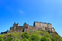 Edinburgh Castle on a beautiful clear sunny day Royalty Free Stock Images