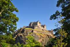Edinburgh Castle from below - Scotland, UK Stock Photography