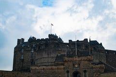 Edinburgh Castle on brisk fall day. Historic Edinburgh Castle on beautiful fall day, in Edinburgh Scotland royalty free stock images
