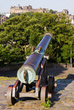 Edinburgh Castle and Cannon Royalty Free Stock Image