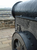 Edinburgh Castle cannon Stock Photo