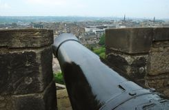 Edinburgh Castle Cannon Royalty Free Stock Image