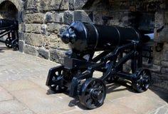 Edinburgh Castle cannons Royalty Free Stock Image
