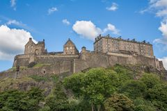 Edinburgh Castle on Castle Rock Royalty Free Stock Photo