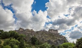 Edinburgh Castle on Castle Rock Stock Photo