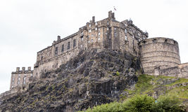 Edinburgh Castle on Castle Rock in Edinburgh, the capital of Scotland, Great Britain Royalty Free Stock Photo