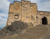 Edinburgh Castle on Castle Rock Stock Photos