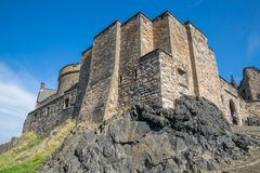 Edinburgh Castle on Castle Rock Royalty Free Stock Photography