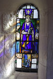 Edinburgh Castle Chapel. Stained glass window in St Margaret's Chapel in the grounds of Edinburgh Castle, Scotland stock images