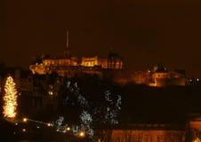 Edinburgh Castle. At Christmas Time Royalty Free Stock Photos