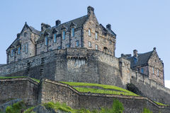 Edinburgh castle on clear day Royalty Free Stock Image