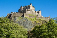 Edinburgh Castle on clear day Stock Photography