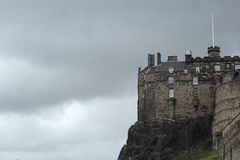 Edinburgh Castle with copy space, and sky, Scotland, UK Royalty Free Stock Image