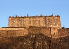 Edinburgh castle at dusk Stock Photos