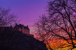 Edinburgh Castle at Dusk Royalty Free Stock Image