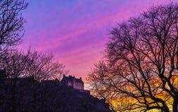 Edinburgh Castle at Dusk Royalty Free Stock Images