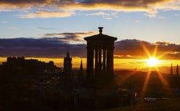 Edinburgh Castle at Dusk Stock Photography