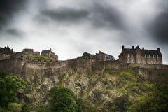 Edinburgh castle. Edinburg Castle an overcast day in Scotland Royalty Free Stock Images