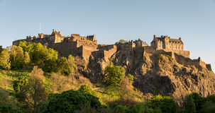 Edinburgh Castle in evening sun Royalty Free Stock Images