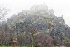 Edinburgh Castle in the Fog Royalty Free Stock Image