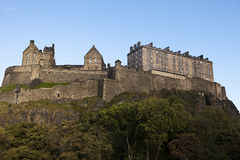 Edinburgh Castle Fortress Stock Photos