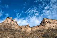 Edinburgh castle and fortress Stock Photos