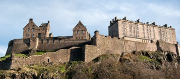 Edinburgh castle and fortress Stock Image