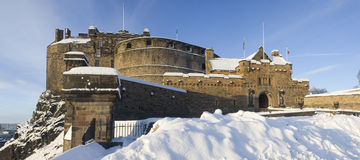 Edinburgh castle gate Royalty Free Stock Photos