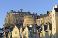Edinburgh Castle and Grassmarket Stock Photos