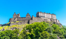 Edinburgh Castle on the hill, Scotland. Royalty Free Stock Photos